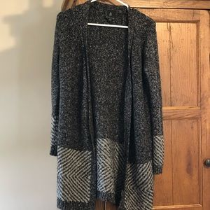Midi length open cardigan